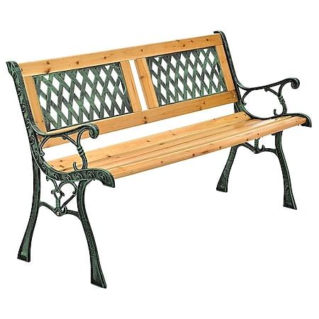 Juskys Gartenbank Sanremo – 2-Sitzer Sitzbank mit Armlehnen & Rückenlehne – 122x54x73 cm - Bild 1