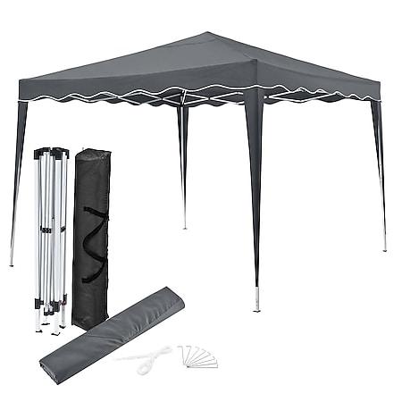 Juskys Faltpavillon Vivara 3x3 m mit Tasche – UV50+ Sonnenschutz Pavillon höhenverstellbar& faltbar - Bild 1