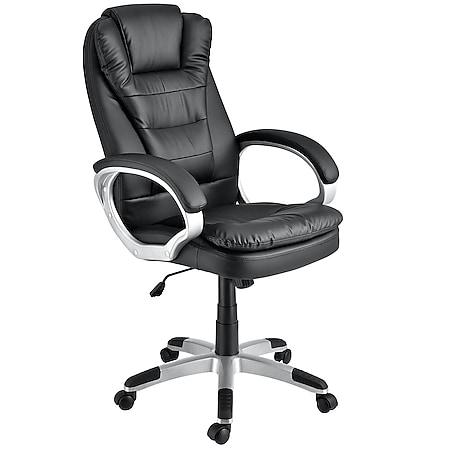 Juskys Bürostuhl Chefsessel Orlando mit Rückenlehne & Armlehnen ergonomisch höhenverstellbar - Bild 1