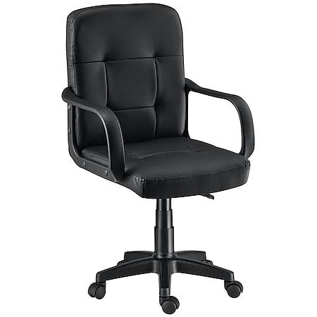 Juskys Bürostuhl Pensacola ergonomisch mit Armlehnen & Rollen – höhenverstellbar & bis 120 kg - Bild 1