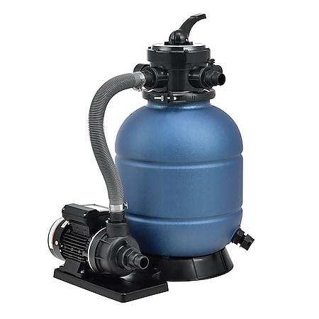 Juskys Sandfilteranlage PSFA20A – Robuster Pool-Filter mit 4 Wege-Ventil und Druckanzeige - Bild 1