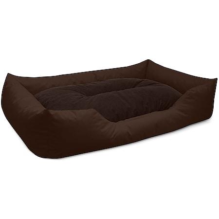 BedDog® Hundebett MIMI, Hundesofa aus Cordura, Microfaser-Velours,Hundekissen... XXL (ca. 120x85cm), CHOCOLATE (braun) - Bild 1