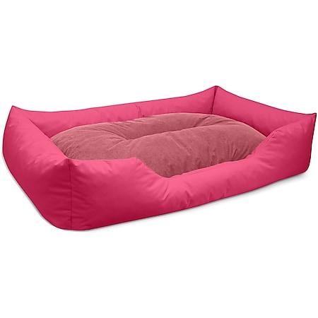 BedDog® Hundebett MIMI, Hundesofa aus Cordura, Microfaser-Velours,Hundekissen... XXL, PINK (pink/rose) - Bild 1