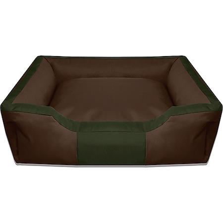 BedDog® Hundebett BRUNO, waschbar, Hundekissen, Hundesofa für drinnen,draußen... XL, MYSTIC (braun/grün) - Bild 1