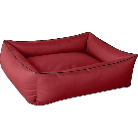 BedDog® Hundebett MAX Hundesofa Hundekissen Hundebett mit Rand L XL XXL XXXL... XL (ca. 100x85cm), RED-WINE (rot) - Bild 1