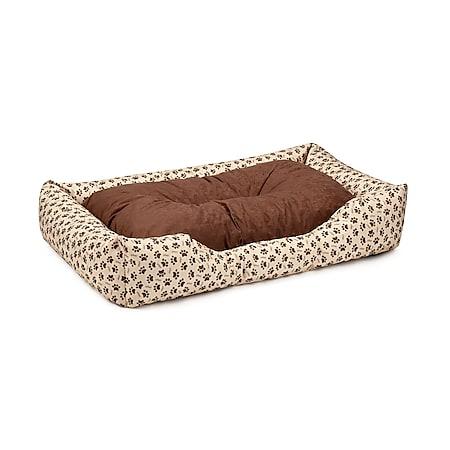BedDog® Hundebett MIMI, Hundesofa aus Cordura, Microfaser-Velours,Hundekissen... XL (ca. 100x85cm), CHOCOLATE-DOG (beige/braun) - Bild 1
