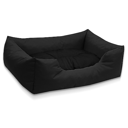 BedDog® Hundebett MIMI, Hundesofa aus Cordura, Microfaser-Velours,Hundekissen... M (ca. 70x55cm), BLACK (schwarz) - Bild 1