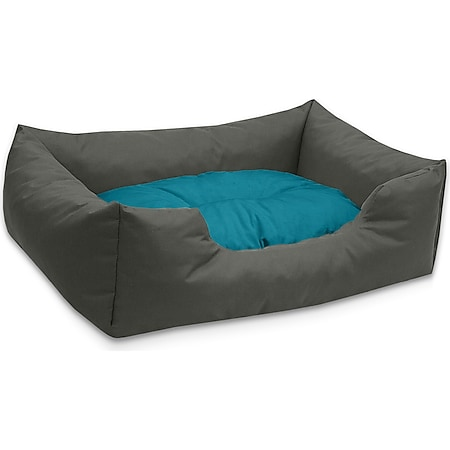 BedDog® Hundebett MIMI, Hundesofa aus Cordura, Microfaser-Velours,Hundekissen... M (ca. 70x55cm), BLUE-ROCK (grau/blau) - Bild 1