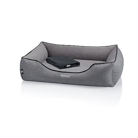 BedDog® PREMIUM Orthopädisches Hundebett CLARA, Memory Foam... ROCK (grau), XL (ca. 90X80x25cm) - Bild 1
