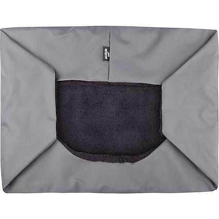BedDog® BEZUG für Hundebett TEDDY, waschbar, verschiedene Farben, Größe S-XXXL... XL (ca. 100x85cm), ROCK-FLOW (grau/grau) - Bild 1