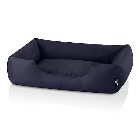 BedDog® Hundebett ZARA, Hundesofa Hundekissen waschbar... L (ca. 80x65cm), NAVY-BLUE (dunkelblau) - Bild 1