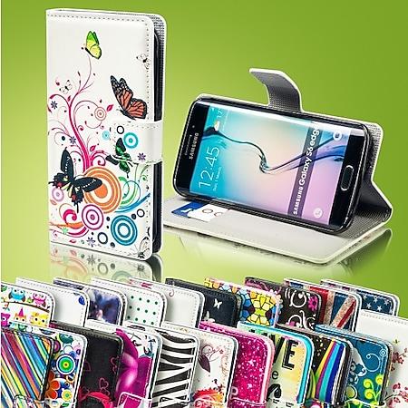 Bookcover Wallet Muster für Smartphones Tasche Hülle Case Etui Cover Schutz Neu... HTC, Eifelturm / Palettes Sweet, One A9 - Bild 1