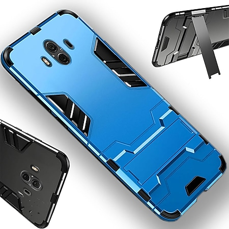 Metal Style Hybridcase Hellblau Huawei P Smart Plus / Nova 3i - Bild 1