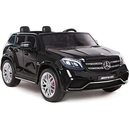 Kinder Elektroauto Mercedes GLS63 Kinderfahrzeug Kinderauto Allrad 4x45W 2.4G USB SD... Schwarz - Bild 1