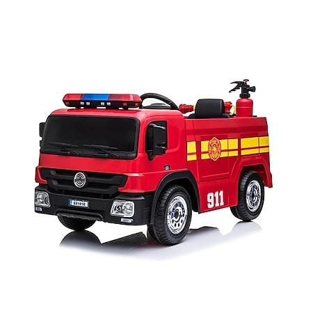 Feuerwehr Kinderauto Feuerwehrauto Fire-Truck Kinderfahrzeug Kinder Eva Reifen Ledersitz - Bild 1