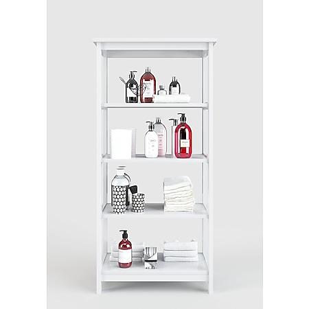 Country - Regal, Bücherregal mit 4 Böden, weiss lackiert, moderner Landhausstil - Bild 1