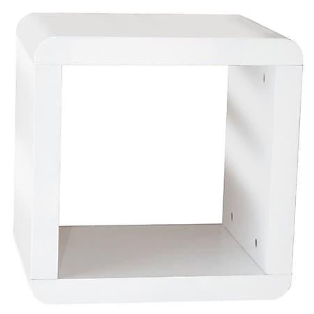 Prana - 1x1 Würfel, Regal, Beistelltisch mit abgerundeten Kanten, hochglanz, Weiss - Bild 1