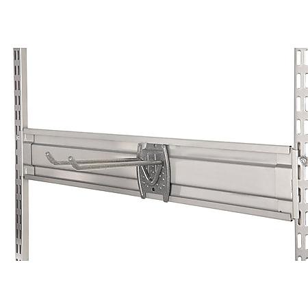 STAXX-System - Aufhängeleiste aus Metall für Werkzeughaken und Universalhaken, silber - Bild 1