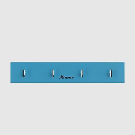 Miami Garderobenpanel mit 4 Haken, Autometallic-Lackierung, ABS Kanten in blau - Bild 1