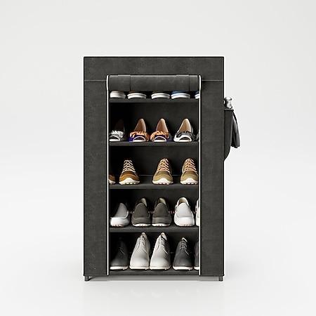 """PLAYBOY - Schuhschrank """"TRACY"""" mit 4 Einlegeböden, Reissverschluss, Retro-Design - Bild 1"""