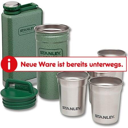 STANLEY Steel Spirits Set - Stahl Flachmann Taschenflasche Jagd Angeln +4 Becher - Bild 1