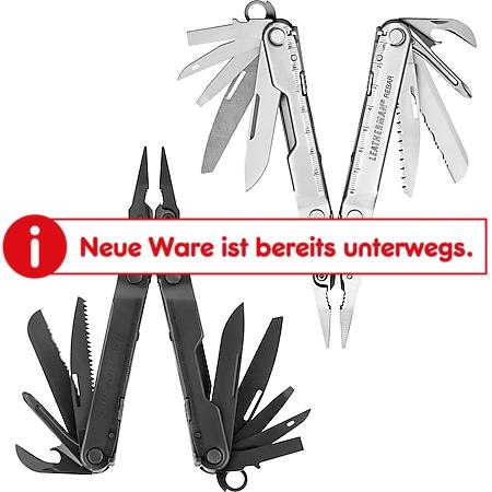 LEATHERMAN Rebar Multi-Tool Multifunktionswerkzeug Taschenmesser Holster 17 in 1 Farbe: silber - Bild 1