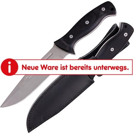 HERBERTZ Outdoormesser Fulltang - Gürtelmesser Pakkaholz – Arbeitsmesser Scheide - Bild 1