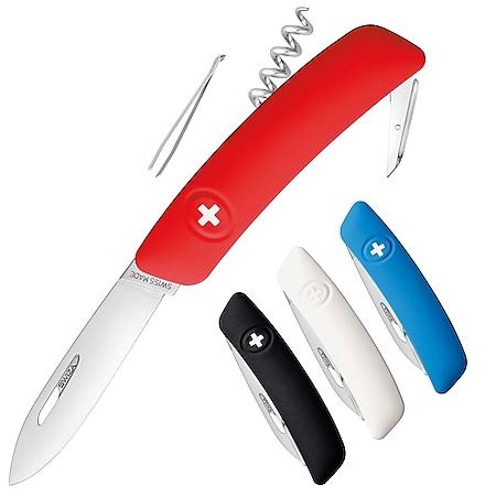 SWIZA Schweizer Messer D01 - 4 Farben Taschenmesser Klappmesser 6 Funktionen Farbe: weiss - Bild 1