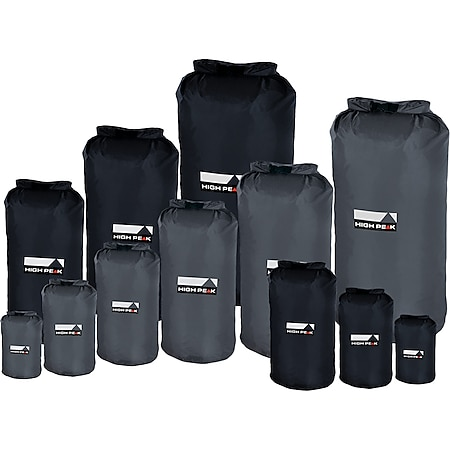 HIGH PEAK Dry Bag Camping Packsack Roll Sack Pack Beutel Wasserdicht 1-26 Liter Farbe: Grau, Größe: 26 Liter - Bild 1