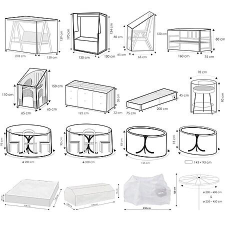 WEHNCKE Gartenmöbel Schutzhülle Hülle Plane Abdeckung Abdeckplane transparent PE Variante: Für Gartenbank - Bild 1