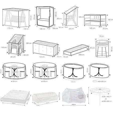 WEHNCKE Gartenmöbel Schutzhülle Hülle Plane Abdeckung Abdeckplane transparent PE Variante: Für Tische 125x83cm - Bild 1