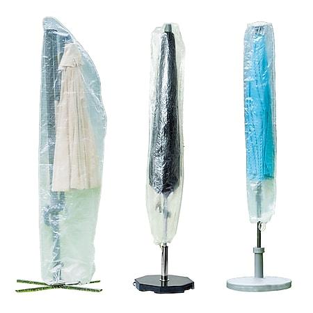 WEHNCKE Party Garten Schirm Schutzhülle - Sonnen Schirm Hülle Haube Abdeckung PE Variante: Für Markt-&Partyschirme 28x155 cm - Bild 1