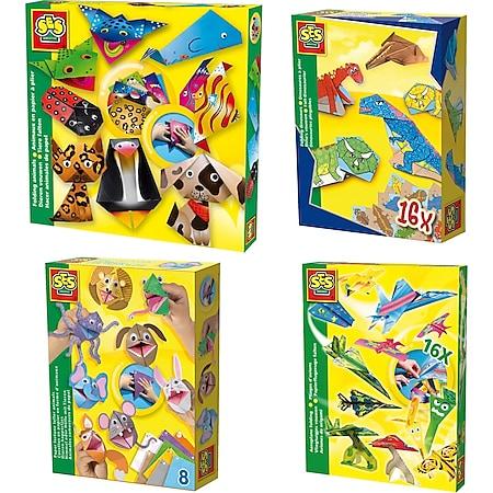 SES Kinder Faltpapier Kreativ Set Faltblätter Origami Bastelpapier Tiere Falten Variante: Tiere 1 - Bild 1