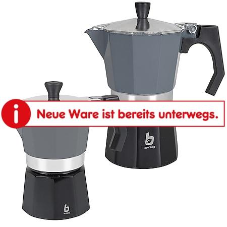 BO-CAMP Espressokocher Percolator - Kaffee Kocher Espresso Kanne Alu 2-6 Tassen Modell: 3 Tassen - Bild 1