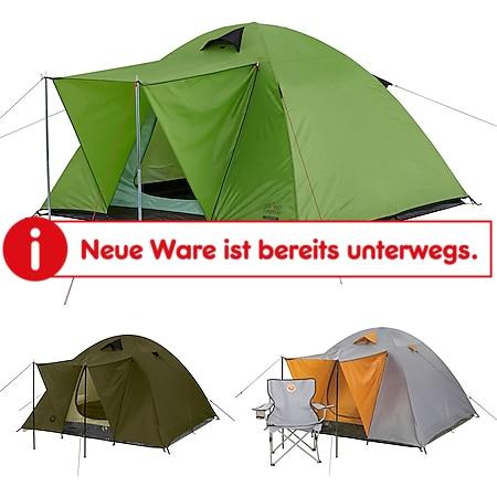 GRAND CANYON 2-3 Personen Zelt Phoenix M - Kuppel Familienzelt Festival Camping Farbe: Grau - Bild 1