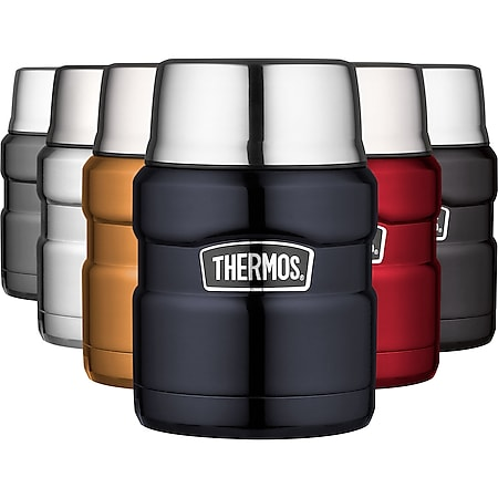 THERMOS Food Container King 0,47 L Thermo Behälter Isolierbehälter Essenbehälter Farbe: Midnight blue - Bild 1