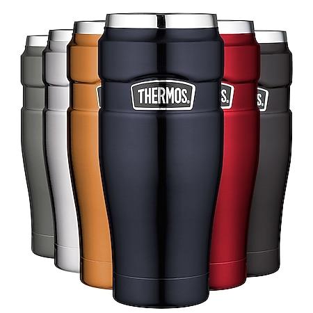 THERMOS Becher 0,47L Isolierbecher KFZ Auto Kaffee Camping Trinkbecher Edelstahl Farbe: Black mat - Bild 1