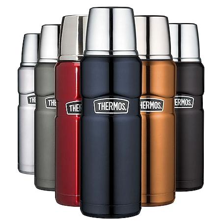 THERMOS Kanne King Isolierflasche 0,47L Flasche Isolierkanne Tee Drehverschluss Farbe: Cool grey - Bild 1