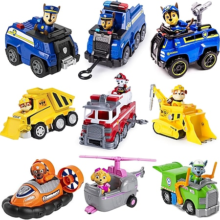 PAW PATROL Ultimate & Basic Fahrzeuge Spielfigur Action Figur Kinder Spielzeug Variante: Rubble Bulldozer - Bild 1