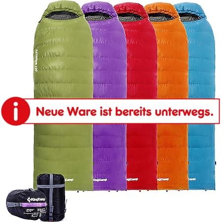 KINGCAMP Favourer 400 Decken Schlafsack 3 Jahreszeiten Camping Lang Daunen -12°C Farbe: orange - Bild 1