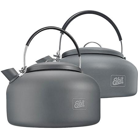ESBIT Alu Kessel 0,6 / 1,4 L Liter Camping Wasserkocher Teekessel Wasserkessel Größe: 0,6 L - Bild 1