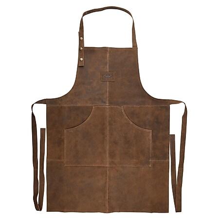 ESSCHERT Leder BBQ Grillschürze - Küchen Schürze Kochschürze Latzschürze Party - Bild 1