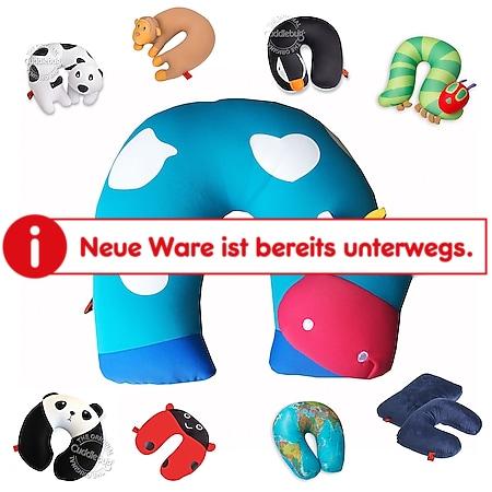 CUDDLEBUG Kinder Reise Kopf Kissen - Nackenhörnchen Nacken Stütze Flugzeug Auto Farbe: Globus - Bild 1