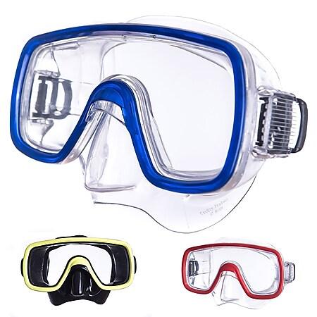 SALVAS Tauch Maske Domino Sr Schnorchel Schwimm Brille Anti Beschlag Erwachsene Farbe: gelb - Bild 1