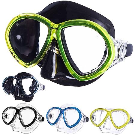 SALVAS Tauch Maske Change Sr Schnorchel Schwimm Brille Anti Beschlag Erwachsene Farbe: Schwarz/Blau - Bild 1