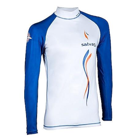 SALVAS Rash Guard Langarm Strand Bade Shirt Surf Top SUP Tauchen Lycra UV UPF50+ Größe: L - Bild 1