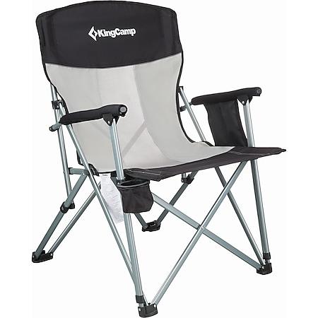 KINGCAMP Camping Falt Stuhl XL Klapp Sessel Garten Outdoor Armlehne Stahl 136 kg - Bild 1