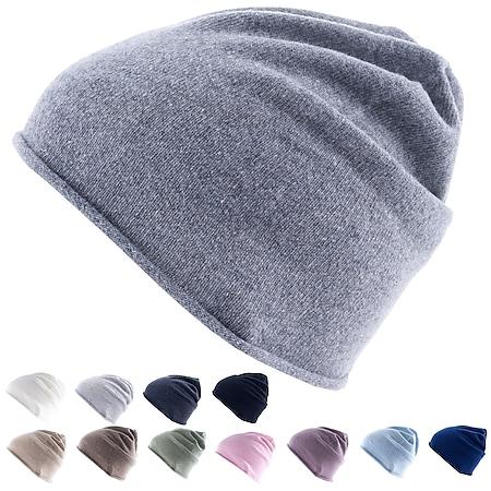 GOLDEN GOAT Strickmütze Arley Beanie Unisex Winter Mütze 100% Kaschmir Wolle Farbe: sand - Bild 1