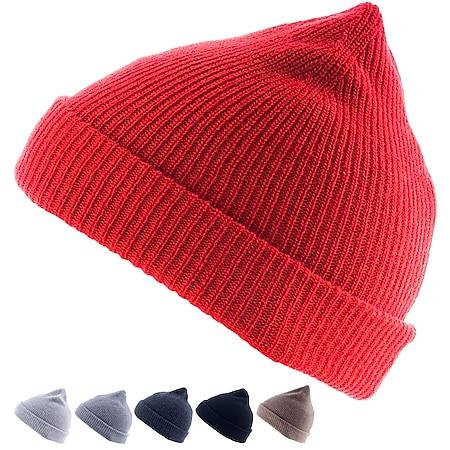 GOLDEN GOAT Berkeley Winter Rip Strick Mütze Beanie Unisex 100% Kaschmir Wolle Farbe: dove grey - Bild 1