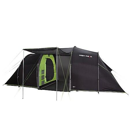 HIGH PEAK Tunnelzelt Tauris 4 Personen Camping Gruppen Zelt Familienzelt Vorraum - Bild 1